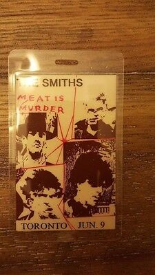 The Smiths Meat Is Murder Backstage Pass Toronto Canada June 9  !!rare!!