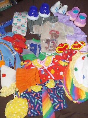 Vintage Lot Of Cabbage Patch Doll Outfit Clothes Clown