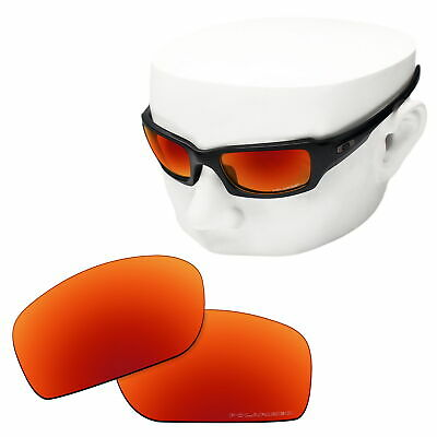 80dc876b530 OOWLIT Replacement Sunglass Lenses for-Oakley Fives Squared POLARIZED - Fire  Red