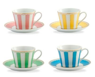 Noritake Carnivale Tea Cup and Saucer Set For 4