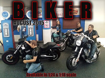 Biker Set of FOUR (4) FIGURES - 1/24 scale figure-AMERICAN DIORAMA-Figures ONLY