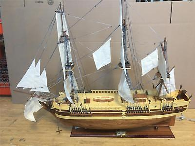 "Hms Bounty ""1783"" New  Wooden Model Tall Ship Sail Boat 100 Cm. ( 39"") Model New"