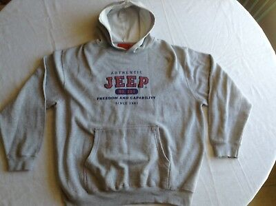 Official Jeep Appearal Hooded Pull Over Sweatshirt Lrg.
