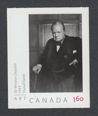 ma. WINSTON CHURCHILL photo by YOUSUF KARSH Die cut stamp Canada 2008 #2273 MNH