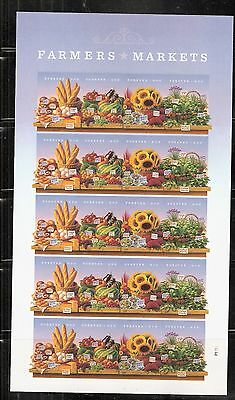 2014 #4912-4915 Farmers Markets Pane of 20 Without Die Cuts MNH