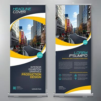 """Roll Up Banner Stand Retractable 33""""x79"""" Trade Show Sign Signage Display w/ Bag"""