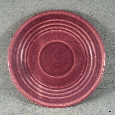 "Vintage Early Bauer RingWare Saucer Burgundy Los Angeles 6"" Diameter - Estate"