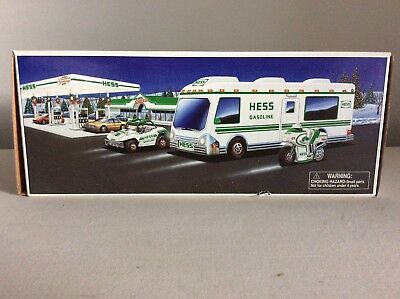 1998 Hess Toy Recreation Van w/ Dune Buggy and Motorcycle. New in Box.