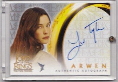 Liv Tyler as Arwen Topps LORD OF THE RINGS The Two Towers Autograph Card