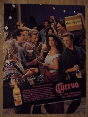1988 Print Ad Jose Cuervo Tequila ~ KIRSTIE ALLEY Desert Party Perfect Margarita