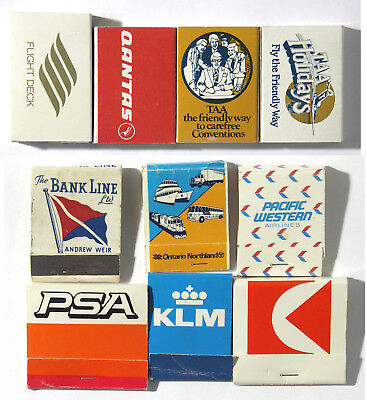 Vintage Match books – Airlines and Transport - #38-41