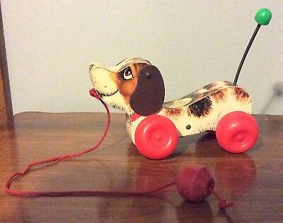 "Vintage - Fisher Price 1968  -  ""Little Snoopy""  Pull Toy  -  No. 693"