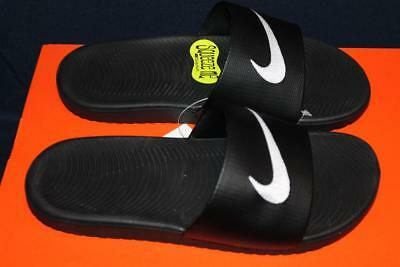 New Nike Youth Kawa Slides Sandals Gs/ps Black Size 6Y