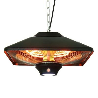 EnerG+ 1500W Hanging Black Electric Infrared Outdoor Gazebo Patio Heater