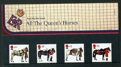 GB stamp Presentation Pack No. 278: 1997 All The Queen's Horses; SC#1989-92, MNH