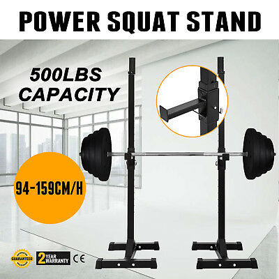 Power Squat Stand Dip Stand Press Spotter Fitness Home Training