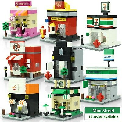 Building Blocks Retail Store Shop with KFC McDonald`s Toys Compatible with Lego
