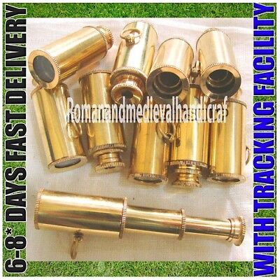 BRASS TELESCOPE, KEY CHAIN Wholesale Lot of 30pcs Nautical Marine Christmas Gift