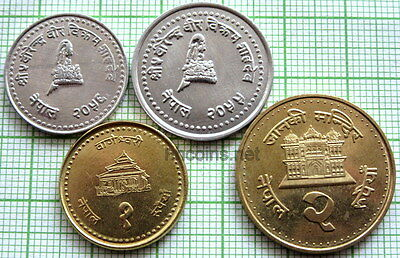 Nepal Lot 4 Various Uncirculated Coins
