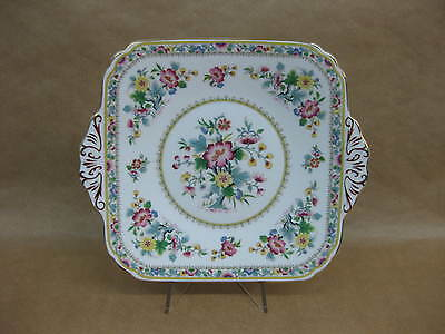 Pretty Vintage Foley English China Cake Sandwich Plate Ming Rose