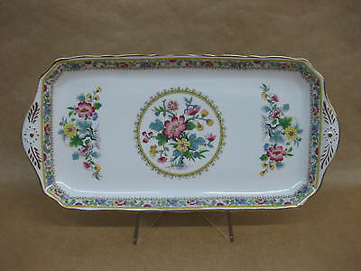 Pretty Vintage Foley English China Sandwich Cake Plate Ming Rose ~ Rectangular