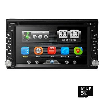 "6.2"" Double 2 Din sat nav car stereo Bluetooth USB FM Radio GPS DVD Player"