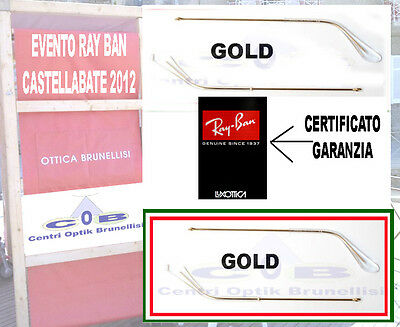 Ray Ban Aste Ricambio Oro 140  REPLACEMENT ARMS Temples Aviator 3025 3026 3030