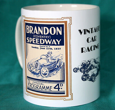 Car Speedway.brandon 1937 Vintage Programme Design  Mug.new.bnib