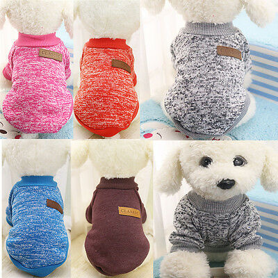 Pet Dog Coat Jacket Winter Warmer Clothes for Puppy Cat Sweater Knitted Clothing