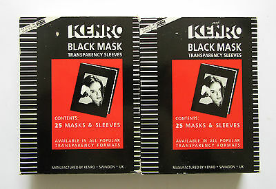 Kenro 6 x 4.5cm  Black Mask Transparency Sleeves KBM005/A  Total Qty 50