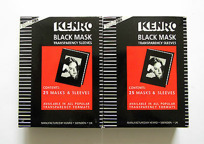 Kenro 6 x 6cm  Black Mask Transparency Sleeves KBM002/A  Total Qty 44