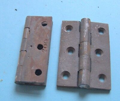 A pair of relaimed three inch Baldwin 3 ins cast iron hinges