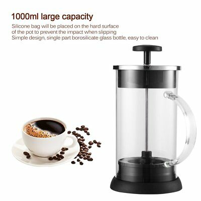Cafe Coffee Pot Percolator Pump With Handle French Press Coffee Plunger Maker PM