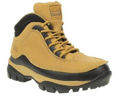 Safety Boots, Cheap Work Boots, Steel Toe Cap Trainers, Lace Up Beige