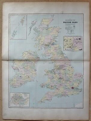 1896 Stanford Antique Folio Map-Parliamentary Map of the British Isles
