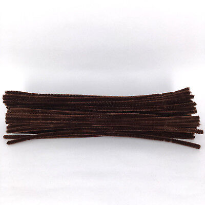 50pcs dark brown Chenille Stems 30cm Craft Pipe Cleaners Craft Stem hand-woven