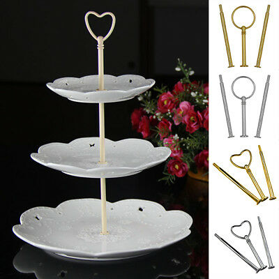 Uk Stock 3 Tier Plate Handle Fitting Hardware Rod Tool Cake Plate Stand