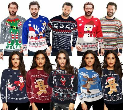 Christmas Xmas Jumper Sweater Unisex Retro Novelty Vinatage Ladies Mens New