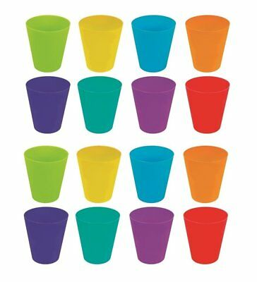 16 Pack Plastic Children Kids Party Home Drinking Cups Tumblers Bright Colours