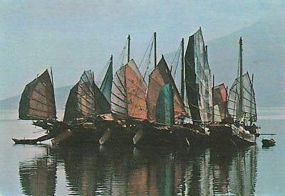 Oct712 Chinese Junk With The Backround Of Modern Buildings Kowloon Hong Kong