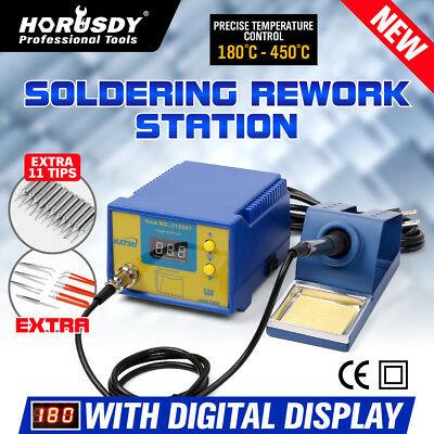 Rework Soldering Station Digital Display Soldering Iron Desoldering SMD  110V US