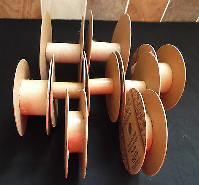 9 x Empty Cardboard Ribbon Reels for 15,19, 36/40 & 50mm wide ribbon cord etc.