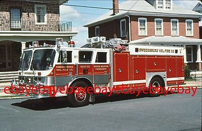 Fire Apparatus Slide, Rescue 8-1, Swedesburg / PA, 1985 Hahn / Saulsbury
