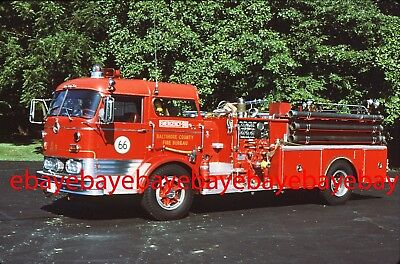 Fire Apparatus Slide, Engine 66, Baltimore Co FD / MD, 1966 Mack C