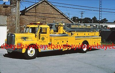 Fire Apparatus Slide, Truck 218, Griffith / IN, 1964 Maxim ladder