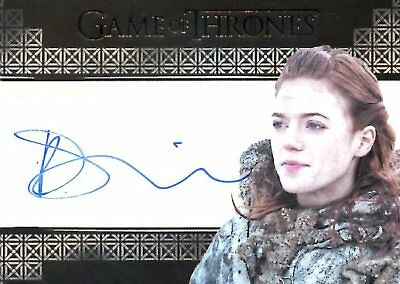 Game Of Thrones Valyrian Steel VALYRIAN AUTOGRAPH card ROSE LESLIE as YGRITTE