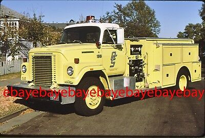 Fire Apparatus Slide, Engine 198, OES / CA, 1977 International / Van Pelt