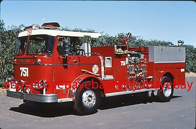 Fire Apparatus Slide, Engine 3, Beverly Hills / CA, 1966 Seagrave