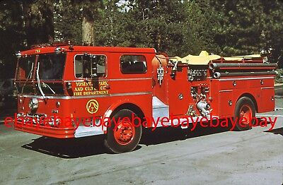 Fire Apparatus Slide, Engine 733, Curry Co, Yosemite / CA, 1973 Ward LaFrance