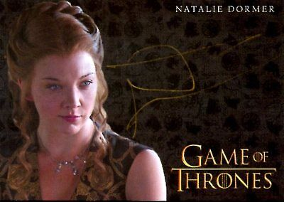 Game Of Thrones Valyrian Steel GOLD AUTOGRAPH card NATALIE DORMER as MARGAERY